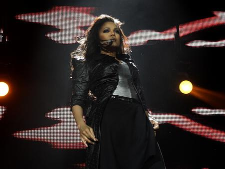 Janet Jackson on stage at the Jingle Bell Ball