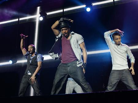 JLS on stage at the Jingle Bell Ball - Sunday