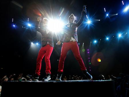 John & Edward on stage at the Jingle Bell Ball