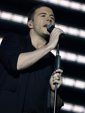 Westlife on stage at the Jingle Bell Ball