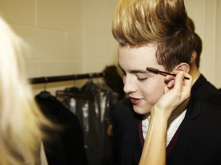 Backstage at the Jedward video shoot