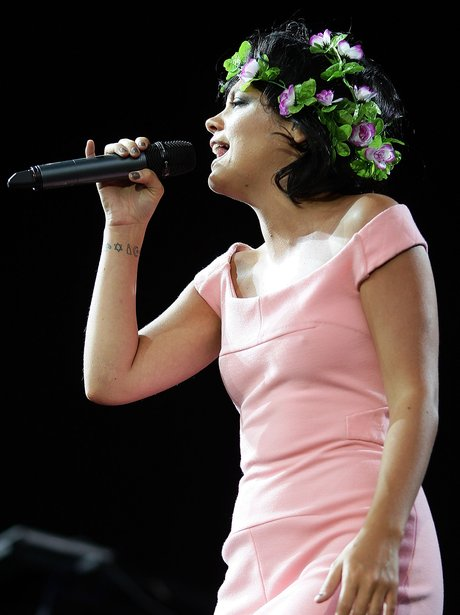 Lily Allen on stage
