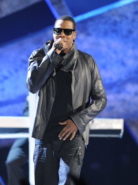 Jay-Z performs live on stage
