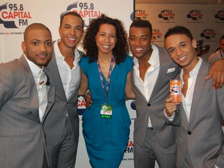 JLS with Margherita