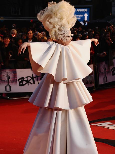 Lady Gaga at the 2010 BRIT Awards