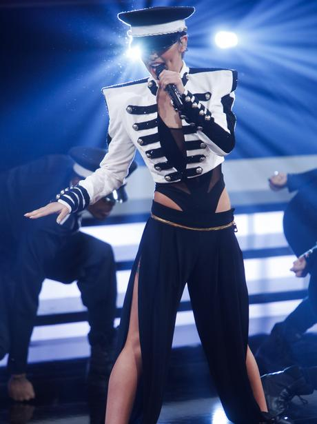 Cheryl Cole performs on stage