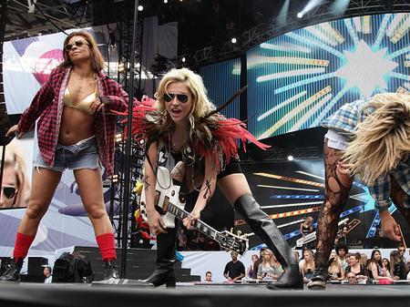 Ke$ha on Stage