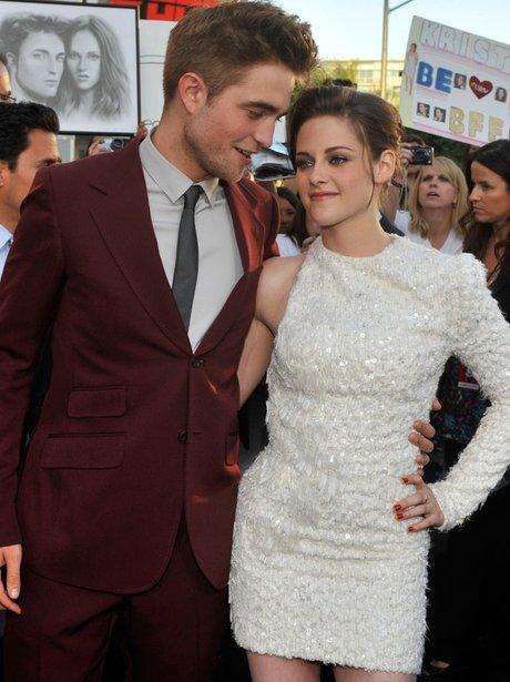 Robert Pattinson and Kristen Stewert at the Eclipse premiere