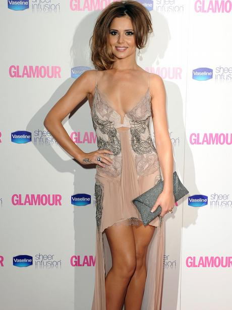 Cheryl Cole poses on the red carpet.