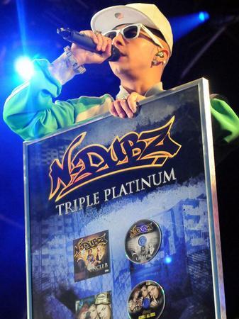 N Dubz performing live