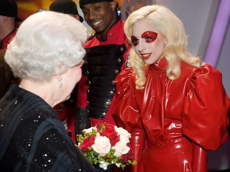 Lady Gaga and the Queen