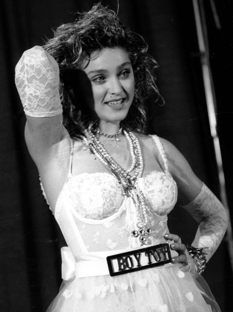 Madonna in Like A Virgin costume