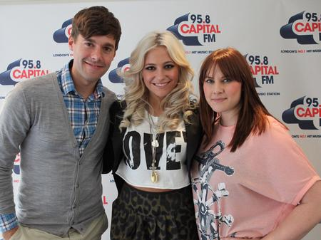 Pixie Lott at the Capital  FM studios
