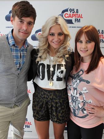 Pixie Lott at the Capital  FM studios