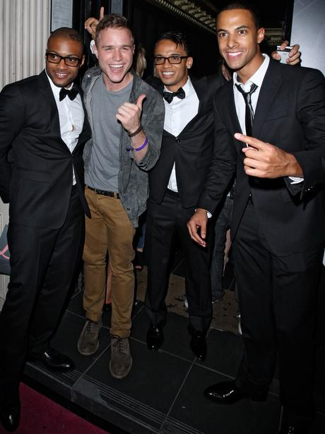 JLS and Olly Murs at the Lipsy party.