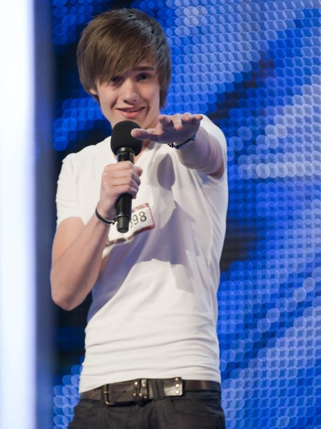 Liam Payne singing at his x factor audition