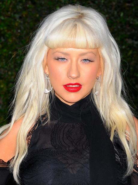 Christina Aguilera with a fringe.