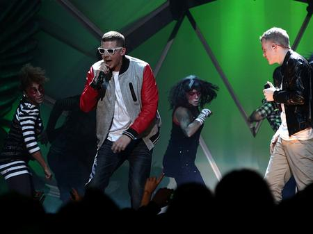 Professor Green performs at the MOBO