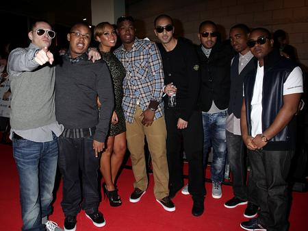 Roll Deep arrive at the MOBO Awards