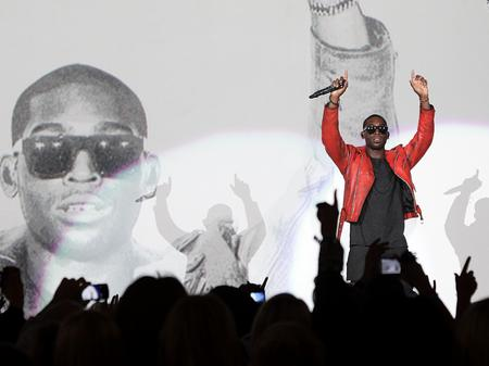 Tinie Tempah performs at the MOBOS