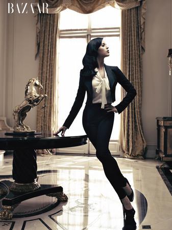 Katy Perry graces Harper's Bazaar's December cover