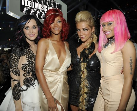 Katy Perry, Rihanna, Kei$ha and Nicki Minaj at the