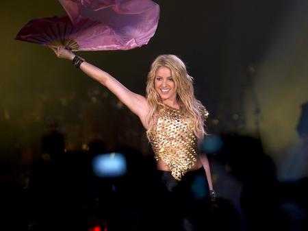Shakira performing live