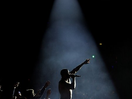Flo Rida performing at the Jingle Bell Ball 2010