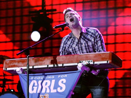 Scouting for Girls performing at the Jingle Bell Ball 2010