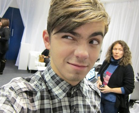 Nathan Sykes giving a face selfie
