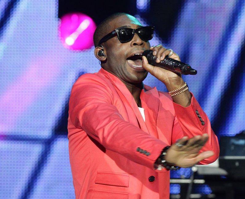 Tinie Tempah live on stage at the Jingle Bell Ball