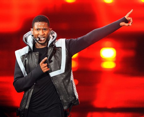 usher performing live