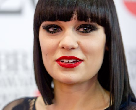 Jessie J with signature black bob