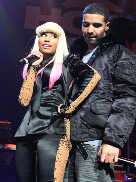 Nicki Minaj and Drake performing live
