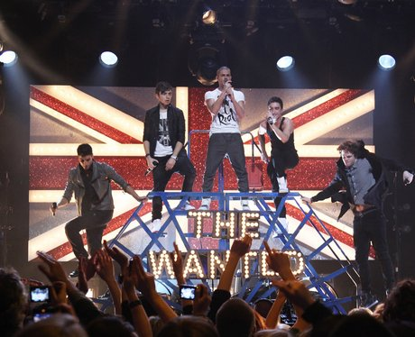 The Wanted perform at The Brit Awards 2011 nominat