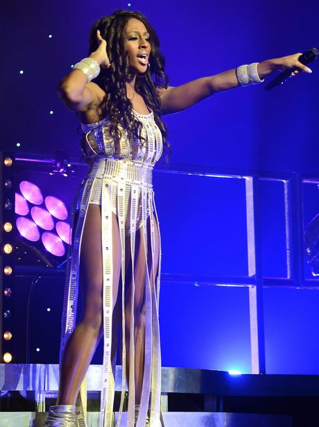 Alexandra Burke on stage