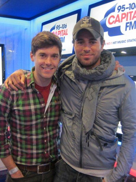 Enrique Iglesias with Rich Clarke