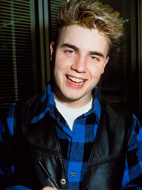 A young Gary Barlow from pop boy band Take That