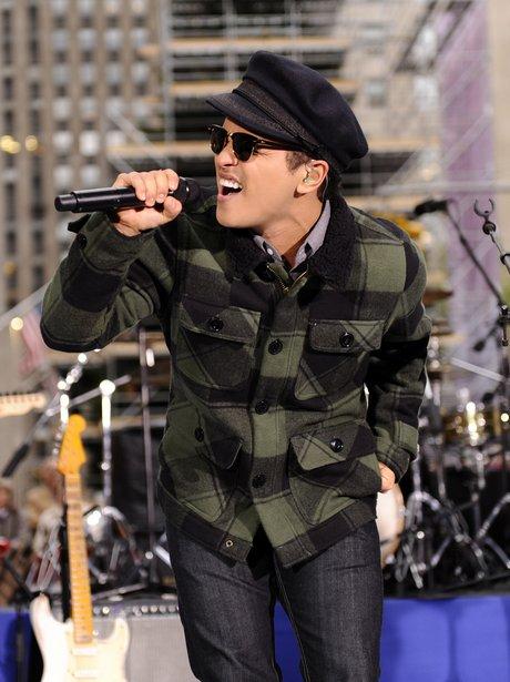 Bruno Mars live on stage