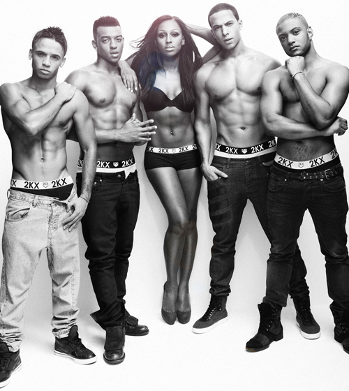 JLS and Alexandra Burke clothing range 2KX