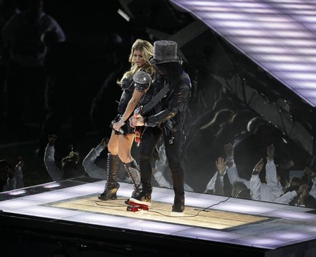 fergie and slash at The Super Bowl XLV