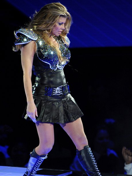 Fergie, Black Eyed Peas performs at Super Bowl XLV