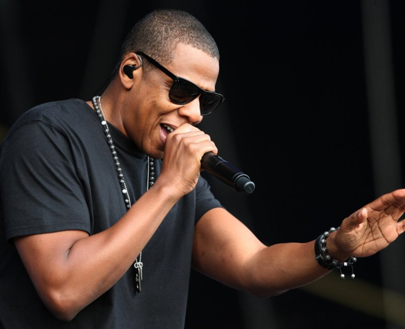 Jay-Z  on stage at T in the Park