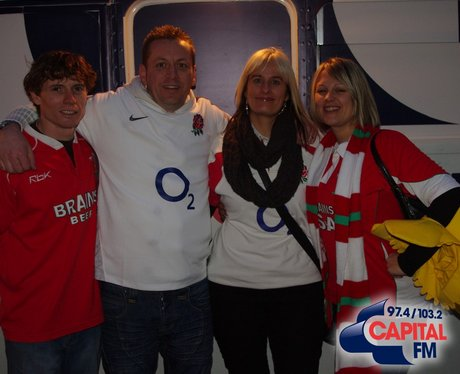 Fans in Cardiff for Wales V England