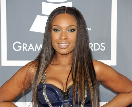 Jennifer Hudson arrives at the Grammy Awards