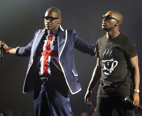 Tinie Tempah and Labyrinth onstage at The Brit Aw