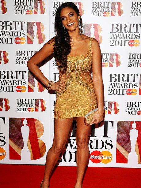 Alesha Dixon arriving for the 2011 Brit Awards