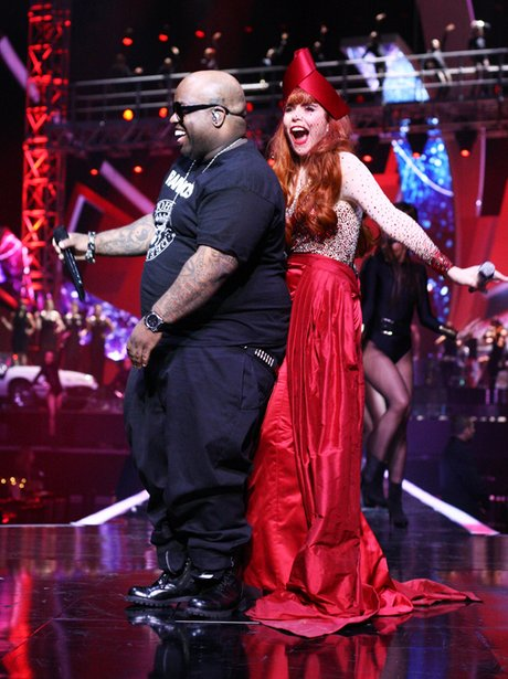 Cee Lo Green and Paloma Faith at the BRITs