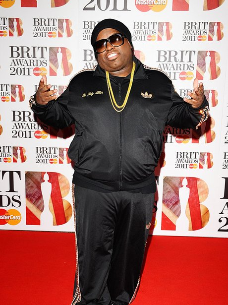 Cee Lo Green arriving for the 2011 Brit Awards