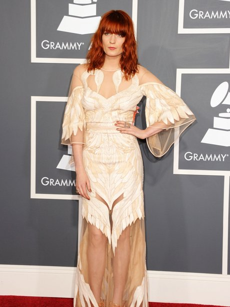 Florence Welch arrives at the Grammy Awards